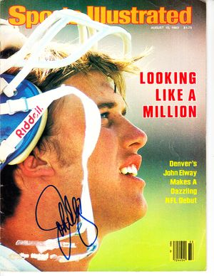 John Elway autographed Denver Broncos 1983 Sports Illustrated
