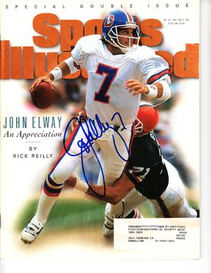 John Elway autographed Denver Broncos 1996 Sports Illustrated