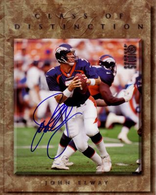 John Elway autographed Denver Broncos 1997 Donruss Studio 8x10 photo card