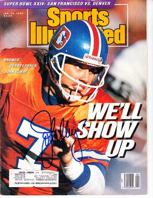 John Elway autographed Denver Broncos 1990 Sports Illustrated