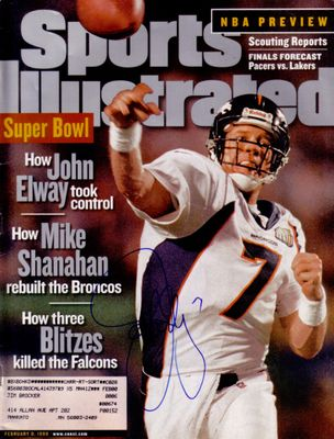 John Elway autographed Denver Broncos Super Bowl 33 Sports Illustrated