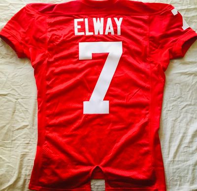 John Elway Stanford Cardinal authentic Nike stitched #7 red game cut youth 2XL (adult M) jersey NEW