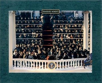 John F. Kennedy 1961 Inauguration speech 8x10 photo (The only thing we have to fear is fear itself)