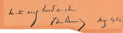 President John F. Kennedy autograph or cut signature dated May 1962 inscribed With very best wishes (JSA)