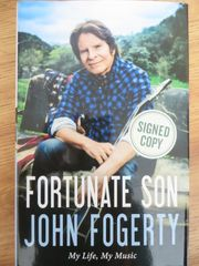 John Fogerty autographed Fortunate Son hardcover book