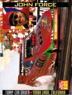 John Force 1999 Sports Illustrated for Kids card