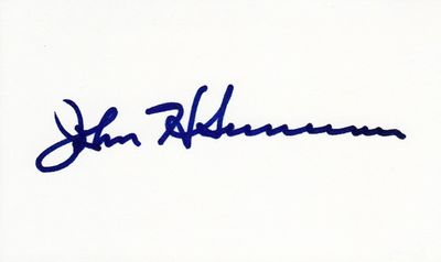 John H. Sununu autographed index card