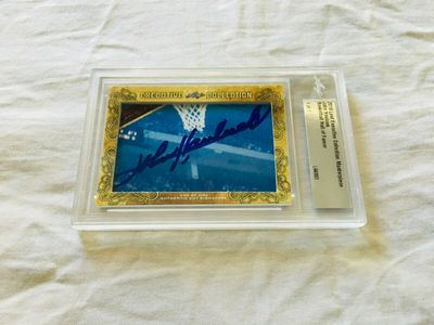 John Havlicek 2018 Leaf Masterpiece Cut Signature certified autograph card 1/1