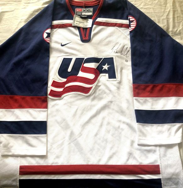 John LeClair autographed 2002 USA Olympic Hockey Team authentic Nike jersey NEW WITH TAGS