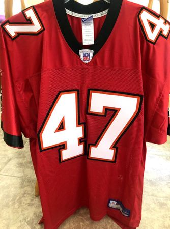 John Lynch Tampa Bay Buccaneers authentic Reebok red triple stitched jersey NEW