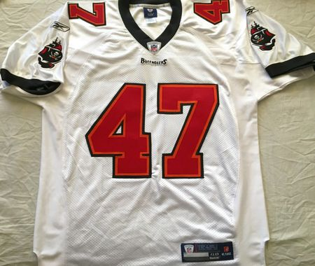 John Lynch Tampa Bay Buccaneers authentic Reebok game model white stitched jersey NEW