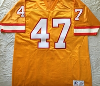 John Lynch Tampa Bay Buccaneers orange authentic Logo Athletic stitched jersey