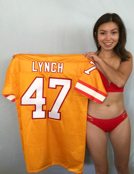 John Lynch Tampa Bay Buccaneers authentic Logo Athletic stitched orange jersey