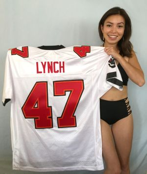John Lynch Tampa Bay Buccaneers authentic Reebok white stitched jersey NEW