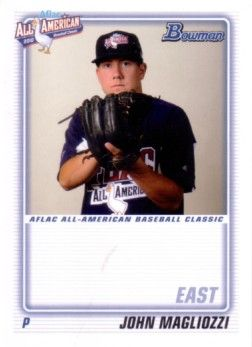 John (Johnny) Magliozzi 2010 AFLAC Bowman Rookie Card