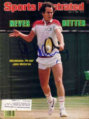 John McEnroe autographed 1983 Wimbledon Sports Illustrated