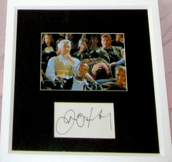 John O'Hurley autograph matted and framed with Seinfeld J. Peterman 5x7 photo