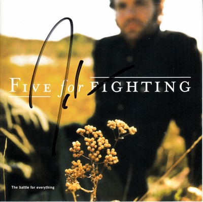 John Ondrasik autographed Five for Fighting The Battle for Everything CD booklet