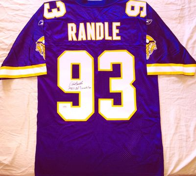 John Randle autographed Minnesota Vikings authentic Reebok stitched jersey inscribed 1990's All Decade Team (Schwartz)