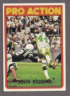 John Riggins New York Jets 1972 Topps In Action card #126 VgEx