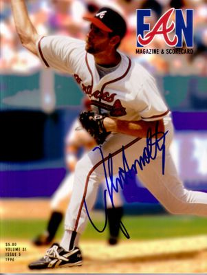John Smoltz autographed Atlanta Braves 1996 program