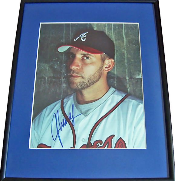 John Smoltz autographed Atlanta Braves magazine full page photo matted and framed