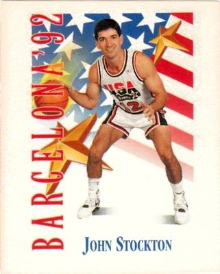 John Stockton 1991-92 SkyBox USA Dream Team Mark and See mini card
