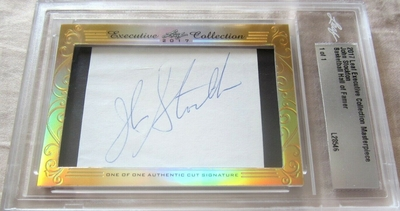 John Stockton 2017 Leaf Masterpiece Cut Signature certified autograph card 1/1 JSA