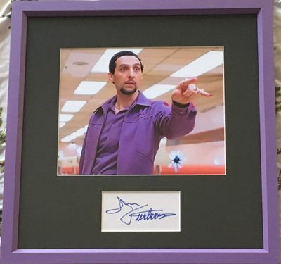 John Turturro autograph matted and framed with Big Lebowski 8x10 Jesus Quintana movie photo