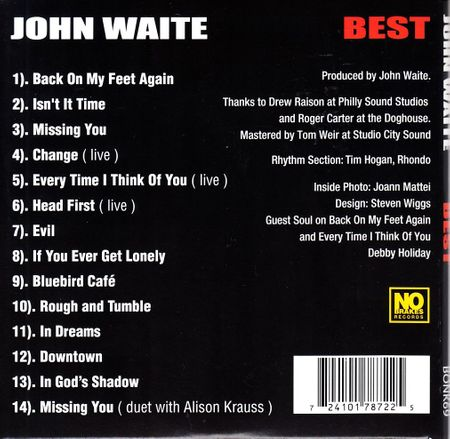 John Waite autographed BEST Greatest Hits (Missing You) 2014 CD