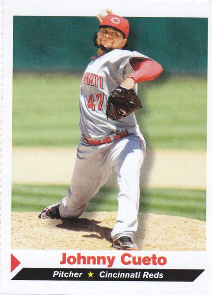Johnny Cueto Cincinnati Reds 2011 Sports Illustrated for Kids card