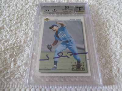 Johnny Damon autographed 1992 Upper Deck Minors pre Rookie Card JSA authenticated (BGS graded 8.5 and slabbed)