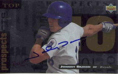 Johnny Damon autographed 1994 Upper Deck Minors jumbo card