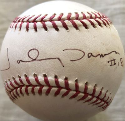 Johnny Damon autographed Rawlings MLB baseball