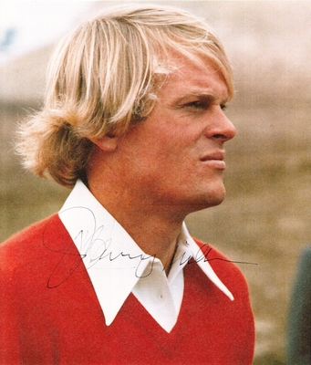 Johnny Miller autographed 8x10 vintage golf magazine photo