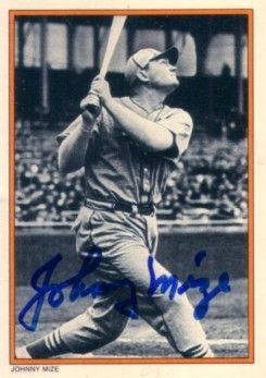 Johnny Mize autographed 1985 Topps Circle K All Time Home Run Kings card