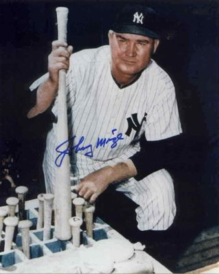 Johnny Mize autographed New York Yankees 8x10 photo