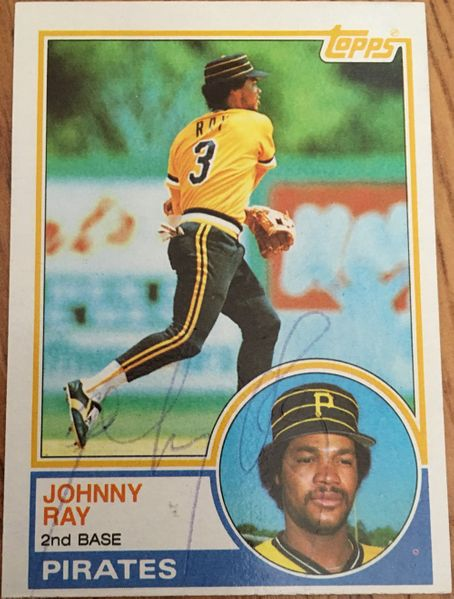 Johnny Ray autographed Pittsburgh Pirates 1983 Topps card