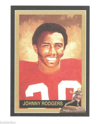 Johnny Rodgers Nebraska Cornhuskers 1972 Heisman Trophy winner card