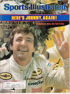 Johnny Rutherford Wins 1980 Indianapolis 500 Sports Illustrated magazine