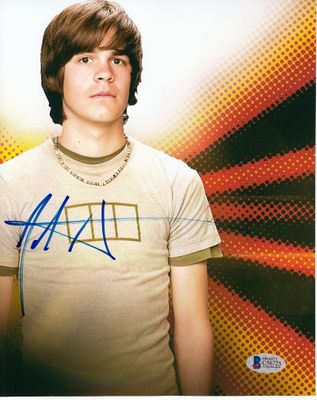 Johnny Simmons autographed 8x10 photo (BAS authenticated)