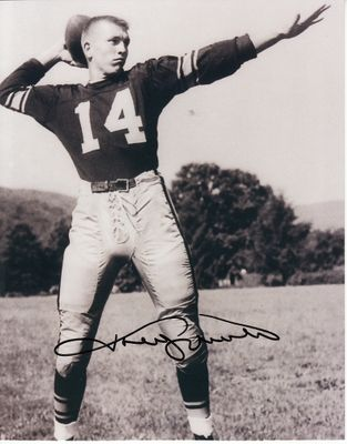 Johnny Unitas autographed 1955 Pittsburgh Steelers 8x10 black & white photo