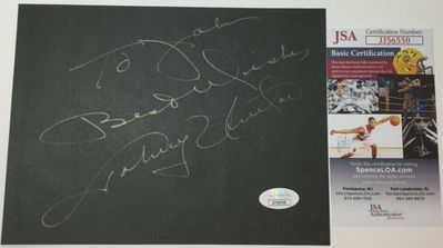 Johnny Unitas autographed 6x8 black paper inscribed To John Best Wishes (JSA)