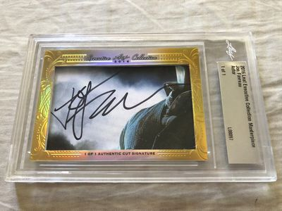 Jon Favreau 2016 Leaf Masterpiece Cut Signature certified autograph card 1/1 JSA Iron Man