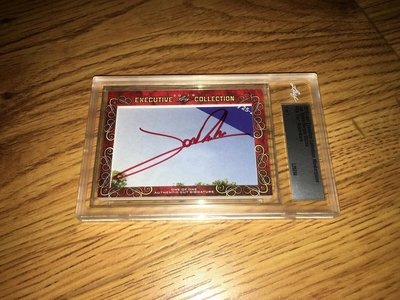 Jon Rahm and Sergio Garcia 2018 Leaf Masterpiece Cut Signature certified autograph card 1/1 JSA