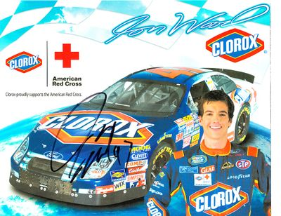 Jon Wood autographed Clorox Racing NASCAR 8x10 photo card