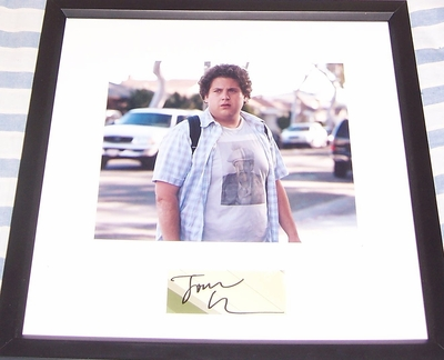Jonah Hill autograph matted & framed with Superbad 8x10 photo