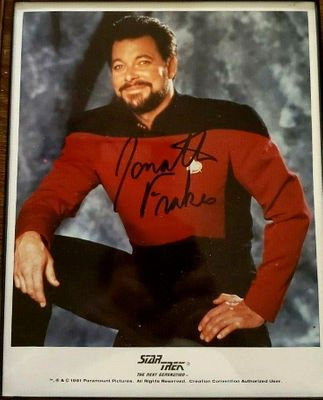 Jonathan Frakes autographed Star Trek The Next Generation 8x10 photo