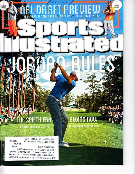 Jordan Spieth autographed 2015 Masters Sports Illustrated