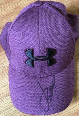 Jordan Spieth autographed purple Under Armour cap or hat